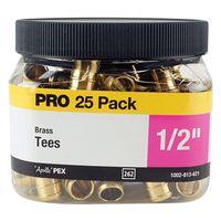 TEE PEX 25PK 1/2IN