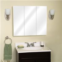 Zenith M30 Beveled Edge Mirrored Frameless Tri-View Medicine Cabinet