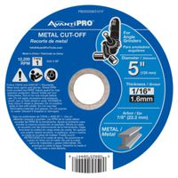 DISC CUTOFF METAL 5X1/16X7/8IN