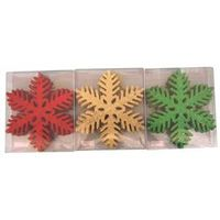 ORNAMENT 6IN SNOWFLAKE 12PC