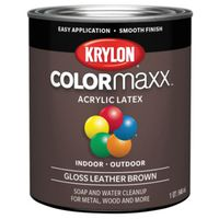 PAINT GLOSS LEATHER BROWN 1QT