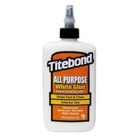 GLUE ALL PURPOSE INTR WHT 8OZ