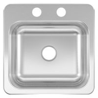 SINK BAR SINGLE BOWL 15X15X6IN