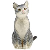 FIGURINE CAT SITTING 2.5X4.5CM