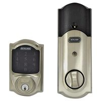 Schlage BE469NXVCAM619 Electronic Entry Touchscreen Door Deadbolt