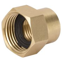 CONNECTOR BRASS 1/2NPTX3/4NH