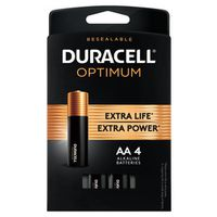 BATTERIES OPTIMUM AA 4 PK