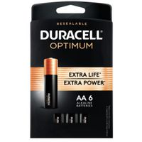 BATTERIES OPTIMUM AA 6 PK