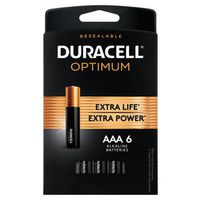 BATTERIES OPTIMUM AAA 6 PK