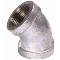 B and K 510-210BC Galvanized Pipe Malleable Iron 45 Degree Elbow
