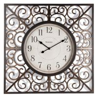 CLOCK WALL VINTAGE W/SWRL 20IN