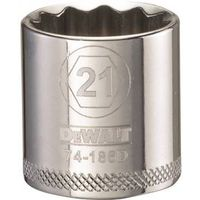SOCKET 3/8 DRIVE 12PT 21MM