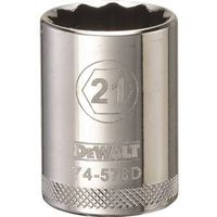 SOCKET 1/2IN DRIVE 12PT 21MM