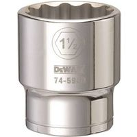 SOCKET 3/4DRIVE 12PT 1-1/2IN