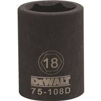 SOCKET IMPACT 1/2DR 6PT 18MM