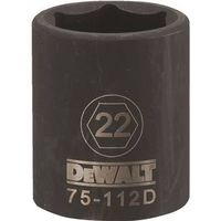 SOCKET IMPACT 1/2DR 6PT 22MM