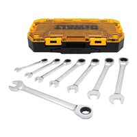 WRENCH SAE RATCHET COMBO 8PC