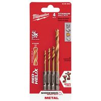 DRILL BIT RED HELIX 4PC SET