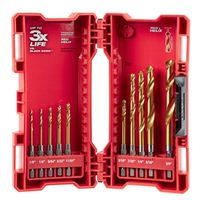 SET DRILL BIT TITANIUM 10PC