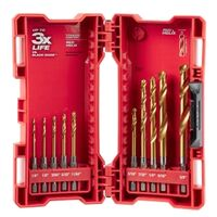 BIT DRILL TITANIUM KIT 10PC