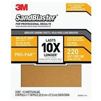 SANDPAPER GRIP 220 9X11IN 15PK