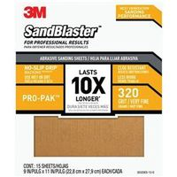 SANDPAPER GRIP 320 9X11IN 15PK
