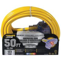 Powerzone ORP611830 SJTOW Pro Triple Tap Extension Cord