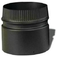 STOVEPIPE 2-WALL 6X6IN BLK