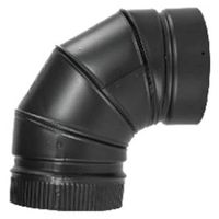 ELBOW STOVEPIPE 90DEG 7IN BLK