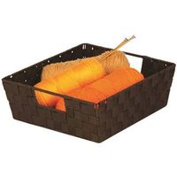 TRAY WOVEN W/HANDLE BLACK