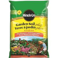 Miracle-Gro Garden Soil Plus 72855 Organic Based Garden Soil