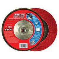 FLAP DISC 7IN STEEL 60G W/HUB