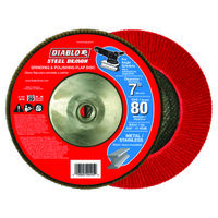FLAP DISC 7IN STEEL 80G W/HUB