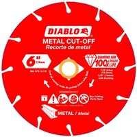 DISC METAL CUTTING DIAMOND 6IN