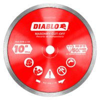 DISC CUT-OFF DMND CON RIM 10IN