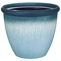 PLANTER EGG W/RIM RSN 14.75IN