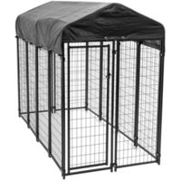 KENNEL DOG WDWR W/CVR 6X4X8FT