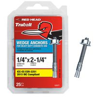ANCHOR WEDGE 1/4X2-1/4IN 25PK