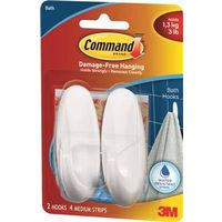 Command 17081B Medium Bath Designer Hook