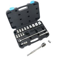 SOCKET SET 19PC 1/2DRIVE MET