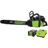 "GREENWORKS 18"" 80V/2A CHAINSAW"