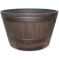 Dynamic Design Hampton Whiskey Barrel 22.48 in W x 13.27 in H