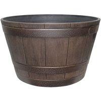 Dynamic Design Hampton Whiskey Barrel 15.51 in W x 9.21 in H