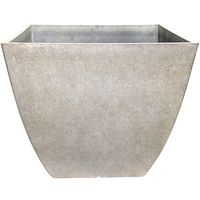 Dynamic Design Hampton Newland Square Planter 16 in W x 13-1/2 in H