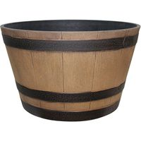 Dynamic Design Hampton Whiskey Barrel 15.51 in W x 9.21 in H