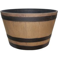 Dynamic Design Hampton Whiskey Barrel 22.48 in W x 13.27 in H