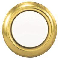 DRBL PSH-BTN WRD LIT GOLD RIM