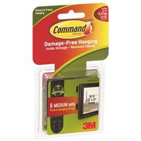 Command 17204BLK Medium Picture Hanging Strips