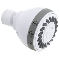 SHOWER HEAD 3FNC WHT 2.70IN