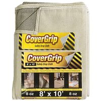 DROP CLOTH NO-SLIP 8X10FT 8OZ